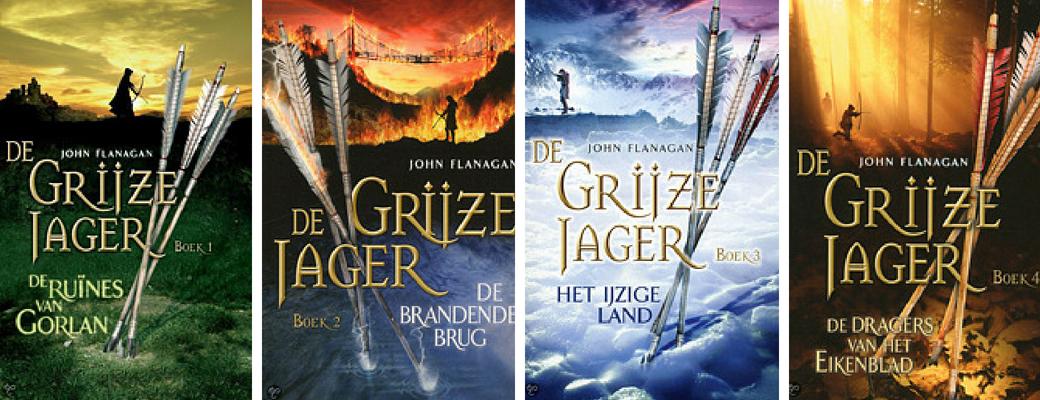 De Grijze Jager | John Flanagan | deel 1 t/m 4 | Bladzijde26.nl
