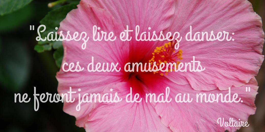 """Weekendwijsheid: """"Laat ons lezen en laat ons dansen, dat heeft de wereld nog nooit kwaad gedaan."""" Voltaire"""
