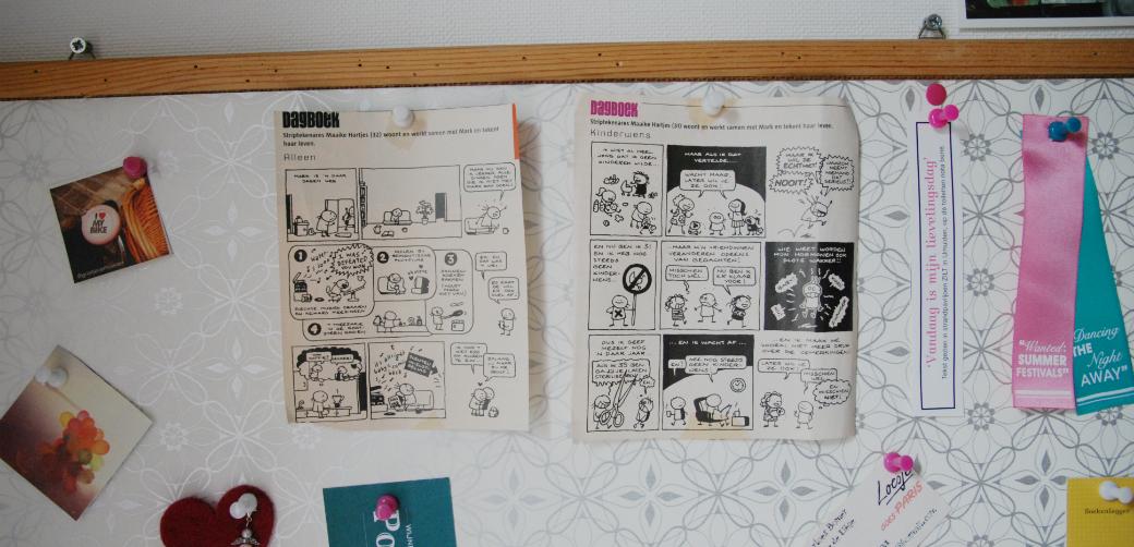 Stripjes van Maaike Hartjes op mijn prikbord