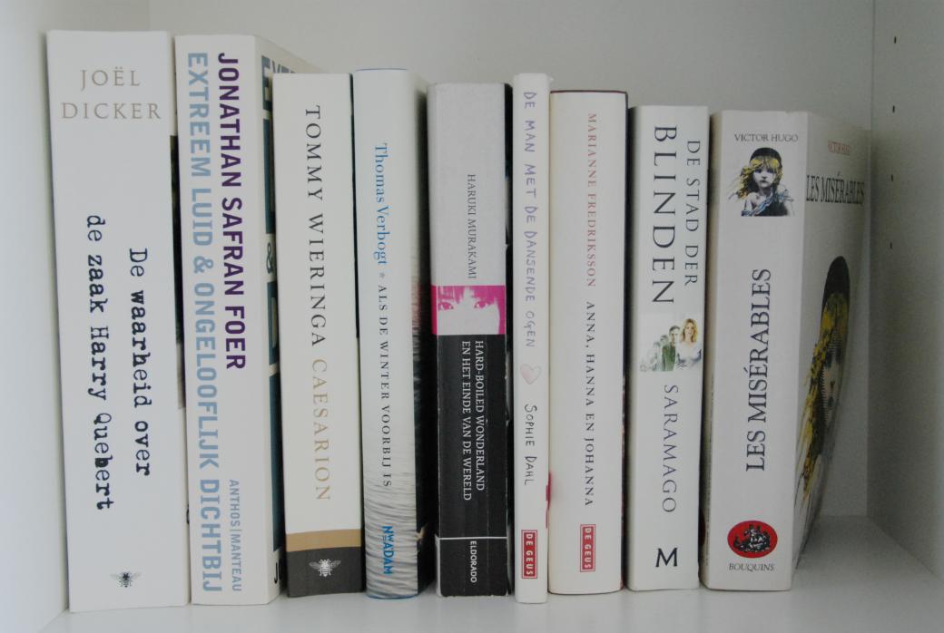 Mijn boekenkast, een wit vak
