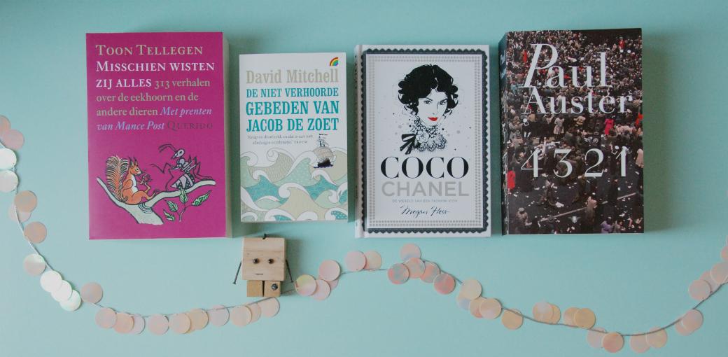 Deze 4 boeken kreeg ik voor mijn verjaardag