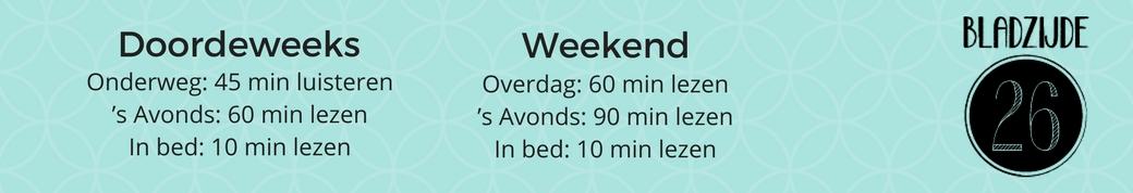 Hoeveel uur lees jij gemiddeld per week? | Bladzijde26.nl