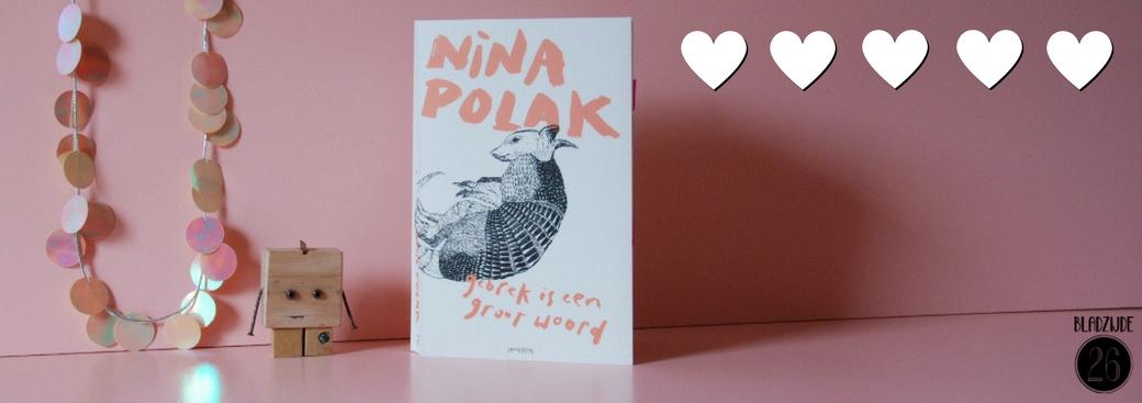 Gebrek is een groot woord | Nina Polak | Bladzijde26.nl